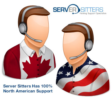 Server Sitters has 100% North American Support